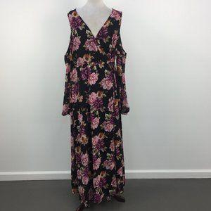 NWT Torrid Floral Cold Shoulder Faux Wrap Dress